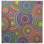 Retro Rainbow Circles Pattern Napkins