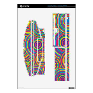 Retro Rainbow Circles Pattern PS3 Decals
