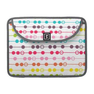 Retro Rainbow Circles Pattern Sleeve For MacBooks
