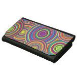 Retro Rainbow Circles Pattern Wallets