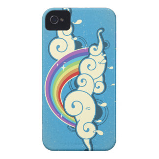 Retro Rainbow & Clouds iPhone 4 Covers