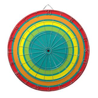 retro rainbow dart board