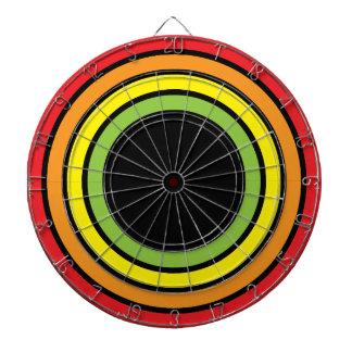 retro rainbow dart boards