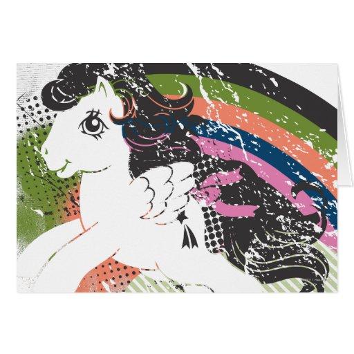 Retro Rainbow Design Greeting Cards