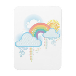 Retro Rainbow Design - Pastel Magnet