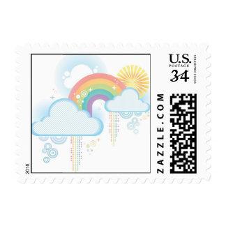 Retro Rainbow Design - Pastel Postage