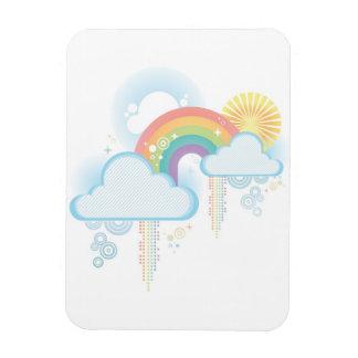 Retro Rainbow Design - Pastel Rectangular Photo Magnet