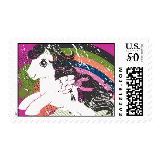 Retro Rainbow Design Postage