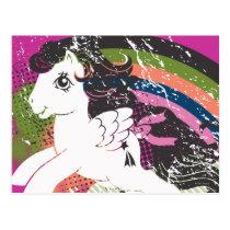 Retro Rainbow Design Postcard