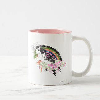 Retro Rainbow Design Two-Tone Coffee Mug