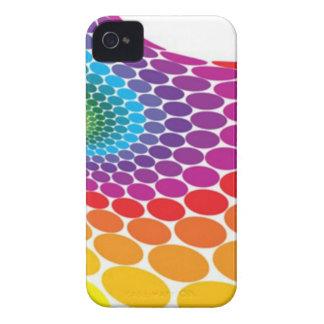 Retro Rainbow Dots iPhone Case iPhone 4 Cover