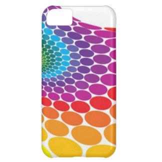 Retro Rainbow Dots iPhone Case Case For iPhone 5C