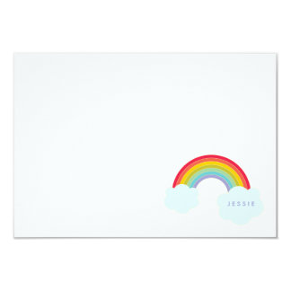 Retro Rainbow Flat Card Kids Stationery