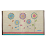 Retro Rainbow Flower Name IPAD Caseable Folio Case iPad Folio Cases