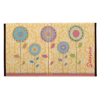 Retro Rainbow Flower Name IPAD Caseable Folio Case iPad Case