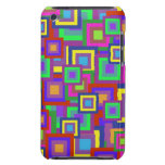 Retro Rainbow Squares Pattern iPod Touch Cases