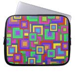 Retro Rainbow Squares Pattern Laptop Sleeves
