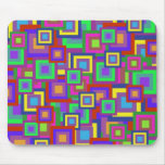 Retro Rainbow Squares Pattern Mousepad