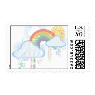 Retro Rainbow Stamp - Medium