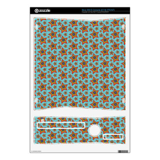 Retro Rainbow Stars Pattern Decal For Xbox 360 S