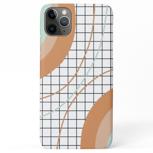 Retro rainbow stripes minimalist grid pattern iPhone 11 pro max case