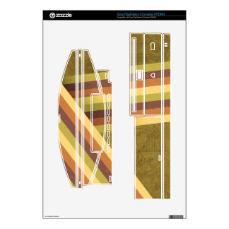 Retro Rainbow Stripes PlayStation 3 Skin Decals For PS3