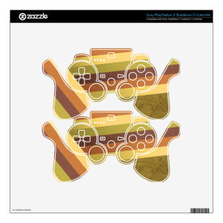 Retro Rainbow Stripes PS3 Dualshock Controller Skin For PS3 Controller