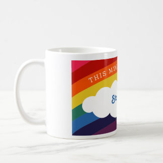 Retro Rainbow | This Mug Belongs To and Your Name