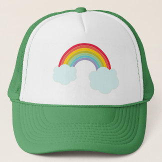 Retro Rainbow Trucker Hat