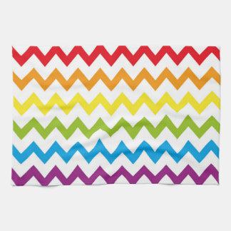 Retro RAINBOW Zig Zag Pattern Kitchen Towels