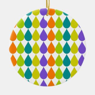 Retro Raindrops3 Ceramic Ornament