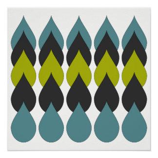 Retro Raindrops5 Poster