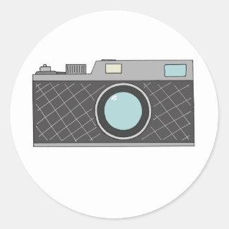 Retro Rangefinder Camera Classic Round Sticker