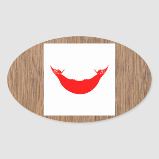 Retro Rapa Nui Flag Oval Sticker