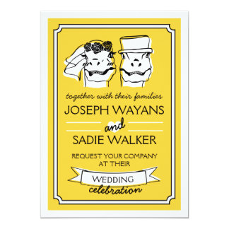 Retro Raptor Wedding Invitation