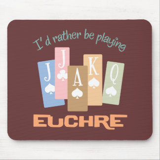 Retro Rather Play Euchre Mouse Pad