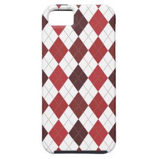Retro Rauten-Trendy hochrotes Rot iPhone 5 Covers