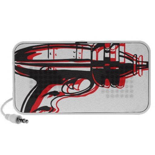 Retro Ray Gun Doodle Speakers