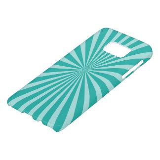 Retro Rays white transparent + your idea Samsung Galaxy S7 Case