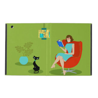 Retro Reading Woman iPad Case