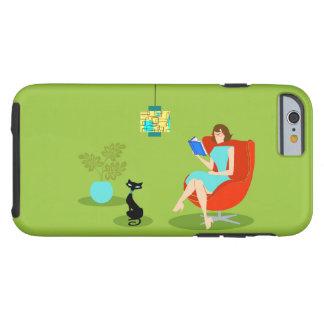 Retro Reading Woman iPhone 6 Case