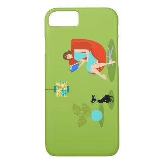Retro Reading Woman iPhone 7 Case
