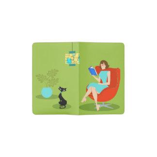 Retro Reading Woman Moleskine Notebook Pocket Moleskine Notebook Cover With Notebook