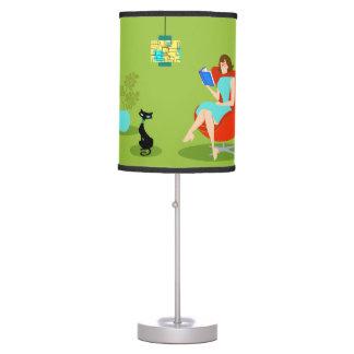 Retro Reading Woman Table Lamp