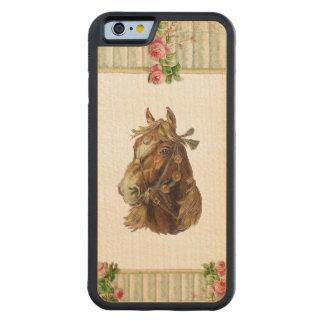 RETRO REBEL Golden Horse iPhone 6 Bumper Wood Case