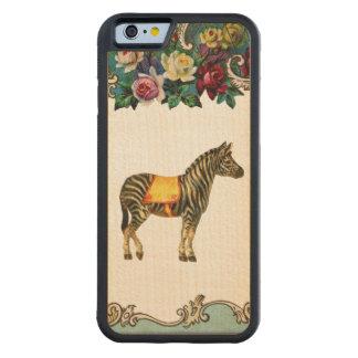RETRO REBEL Golden Zebra iPhone 6 Bumper Wood Case