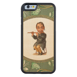 RETRO REBEL The Flute Player iPhone 6 Bumper Wood Carved Maple iPhone 6 Bumper Case