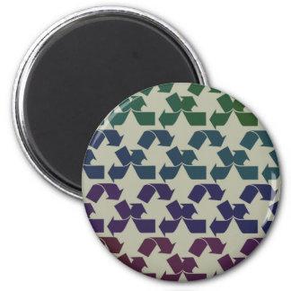 Retro recicle el símbolo imán redondo 5 cm