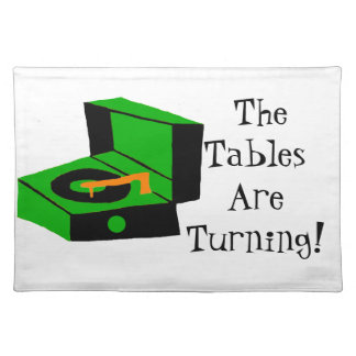 Retro Record Player Cloth Placemat