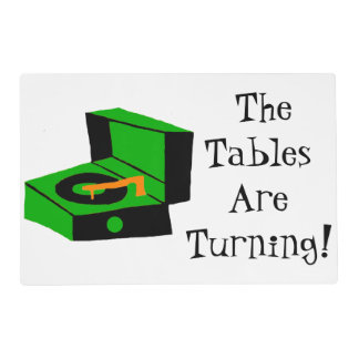 Retro Record Player Laminated Placemat